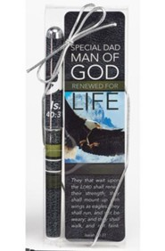 Man of God, Pen & Bookmark Gift Set, Special Dad
