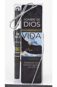 Hombre de Dios, Lapicero y Marcador de Libro Set  (Man of God, Pen & Bookmark Gift Set)