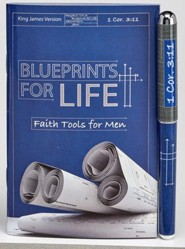 Blueprints For Life, Pen & Pocket-Size Devotion Book Gift Set, KJV
