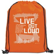Live Out Loud Drawstring Backpack