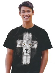 Lion Cross Shirt, Black, 4X