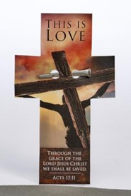 This is Love Nail & Cross Shaped Bookmark