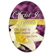 Christ Is Risen Oval Magnet