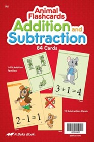 Abeka K5 Addition and Subtraction Animal Flashcards (84  cards)