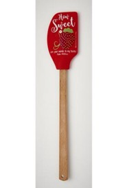 How Sweet Silicone Spatula with Wooden Handle
