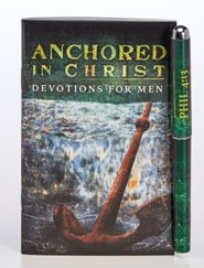 Anchored in Christ Pen & Softcover Devotion Book Gift Set