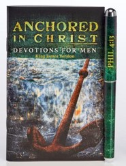 Anchored in Christ Pen & Softcover Devotion Book Gift Set, KJV