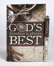 God's Direction is Always Best Devotion Book and Pen Set, KJV