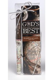 God's Direction is Always Best, Dad, Bookmark and Pen Set