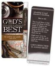 God's Direction is Always Best Jumbo Bookmark & Pen Set