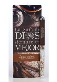 La guía de Dios siempre es mejor, marcador gde. y boligrafo  (God's Direction is Always Best Jumbo Bookmark & Pen Set)
