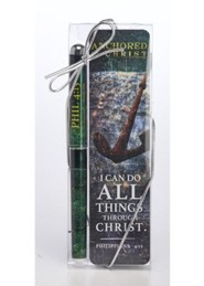 I Can Do All Things Through Christ Pen & Bookmark Gift Set