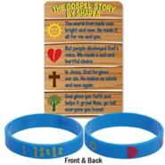 The Gospel Story By Shapes Silicone Bracelet & Card