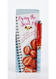 Living the Sweet Life Pen & Jumbo Bookmark Set