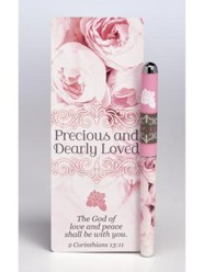 Precious and Dearly Loved Jumbo Bookmark and Pen Set