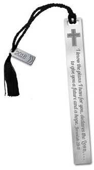I Know the Plans Bookmark with Black Tassel