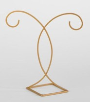 Decorative Gold Ornament Stand, Hanging Height 7inches