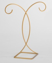 Decorative Gold Ornament Stand, Hanging Height 9.5 inches