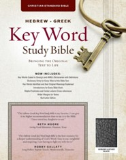 CSB Hebrew-Greek Key Word Study Bible, genuine leather, black