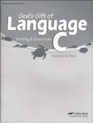 Abeka God's Gift of Language C Writing & Grammar Quizzes &  Tests