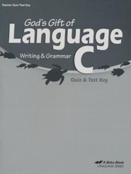 Abeka God's Gift of Language C Writing & Grammar Quizzes &  Tests Key