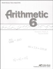 Abeka Arithmetic 6 Quizzes, Tests & Speed Drills
