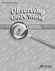 Abeka Observing God's World Quizzes & Worksheets