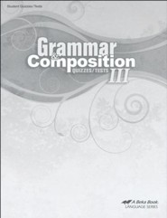 Abeka Grammar & Composition III Quizzes & Tests