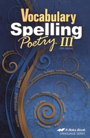 Abeka Vocabulary, Spelling, & Poetry III