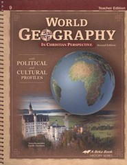 Abeka World Geography in Christian Perspective Teacher   Edition