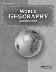 Abeka World Geography Quizzes/Tests