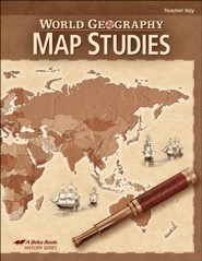 Abeka World Geography Map Studies Teacher Key
