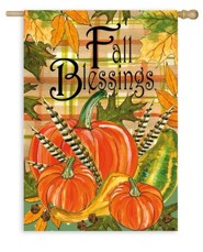 Fall Blessings, Flag, Large