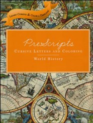 PreScripts Cursive Letters and Coloring: World History