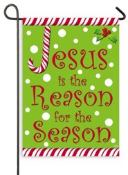 Jesus is the Reason for the Season, Candy Cane, Flag, Small