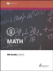 Lifepac Math Grade 9 Unit 2: Solving Equations