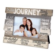Journey Stacked Words Photo Frame