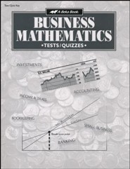 Abeka Business Mathematics Tests, Quizzes & Speed Drills Key
