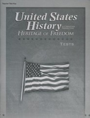 Abeka United States History in Christian Perspective:   Heritage of Freedom Tests Key