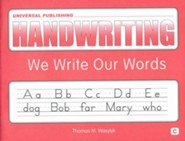 Original Handwriting: We Write Our Words (Book C, Grade 1)