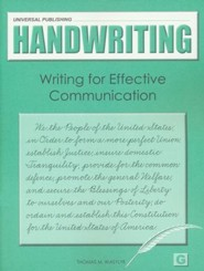 Original Handwriting: Writing for Effective Communication (Book G, Grades 6+)