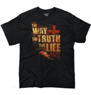 The Way, the Truth, the Life Shirt, Black, Large