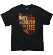 The Way, the Truth, the Life Shirt, Black, Small
