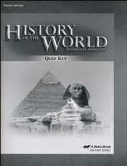 Abeka History of the World in Christian Perspective Quiz Key  (5th Edition)