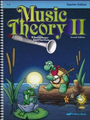 Abeka Music Theory 2 Teacher's Edition (Grades 4 & 5)
