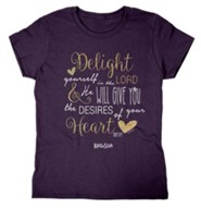 Delight Yourself In the Lord, Missy Shirt, Medium