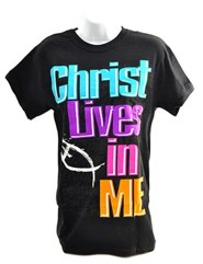 Christ Lives In Me Shirt, Black, Small