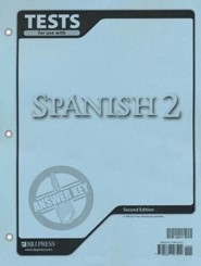 BJU Press Spanish 2 Tests Answer Key, Second Edition