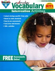 Everyday Vocabulary Intervention Activities Grade K