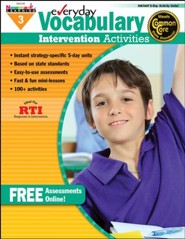 Everyday Vocabulary Intervention Activities Grade 3